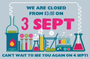 CTSC Closed 3 September from 13:00